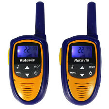 Retevis RT31 kids Walkie Talkie 22CH 0.5W UHF LCD 2-way Radio Navy Blue FRS/GMRS