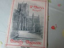 Original St Mary's NOTTINGHAM March 1911 Monthly Church Magazine