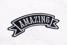 Amazing iron on embroidered patch Vintage/blogger/DIY/90s denim jacket accessory