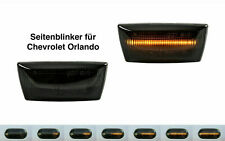 Set Moving Light LED Side Indicator Black For Chevrolet Orlando SB15
