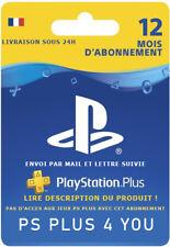 Abonnement PS Plus 12 mois PS4 - Lire Description
