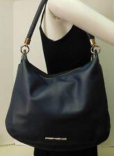 Elaine Turner Blue Leather Hobo Shoulder Bag Handbag Purse