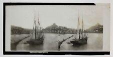 Portugal Marine Photo Plaque stéréo Lachenal & Favre ca 1865