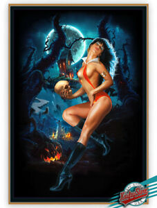 🎃 VAMPIRELLA No.24-1st.Edition Enhanced Giclee on Canvas A/P, Painted by KOUFAY