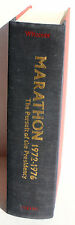 JULES WITCOVER ~ MARATHON ~The Pursuit of the Presidency 1972-1976 First Edition