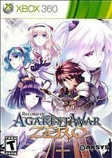 Record of Agarest War Zero 0 (Xbox 360) Standard Edition New Fast Free Shipping
