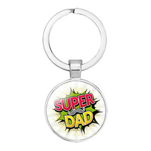 Super Dad Keyring. Great Gift Idea For Fathers Day, Christmas or Birthday