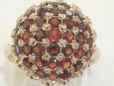 Stunning Vintage 9ct Rose Gold Garnet Ring. Size N Full Hallmark  A5437