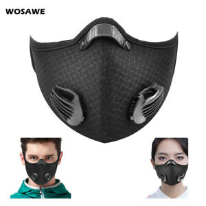 Air Purifying Face Cover Mouth Shield Washable Dustproof Cycling Outdoor Riding
