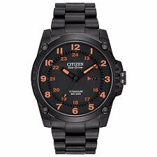 Citizen Eco-Drive Men's BJ8075-58F Super Titanium Orange Markers 43mm Watch