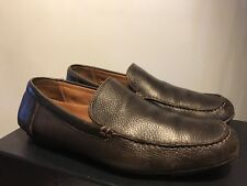Hugo Boss Men's Leather Slip-on Loafers Shoes in Dark Brown Size 9/42 EU