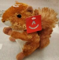 Aurora Nutsie RED SQUIRREL Plush Rusty Brown Stuffed Animal NEW