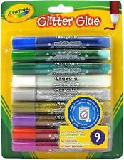 Crayola 9 Washable Glitter Glue Coloured Pens 3+