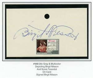 Nicaragua Specialized: Scott #968 20c OPERA on Card Signed BIRGIT NILSSON $$$$