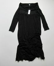 NWT Mother Bee Maternity Off / Over The Shoulder in Black Jersey Maxi Dress L