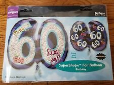 Amscan 116054-01 26 x 21-Inch Oh No It's My 60th Birthday Foil Super Shape