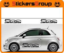 COPPIA ADESIVI 500 LIMITED EDITION PER NUOVA FIAT 500 TUNING