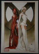 Scarlet Witch White Queen Art Print Signed by Adi Granov
