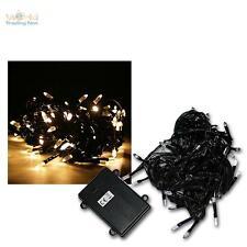 LED Batterie-Lichterkette, 96 LEDs warmweiß, Batteriebetrieben für Außen & Innen