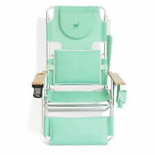 Ostrich Deluxe 3 N 1 Outdoor Lounge Folding Reclining Beach Chair, Teal (Used)