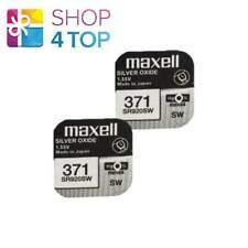2 MAXELL 371 370 SR920SW BATTERIES SILVER 1.55V WATCH BATTERY EXP 2022 NEW