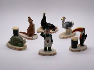 Complete Set of Guinness Carlton Ware Zookeeper Figures from the 1950's