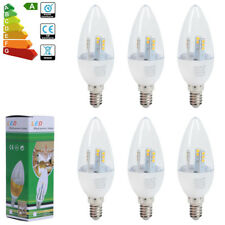 24/12/6x Dimmable 5W E14 SES Ampoules Bougie LED Blanc Froid/Chaud 50w Lumière