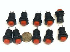 10 Pieces Red square Latching 12mm push button Switch 12v on off pin DS-226 A34