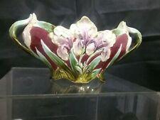 Wunderschöne Blumenvase Majolika Antik Jugendstil Vase Blumen Verziert