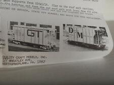 QUALITY CRAFT 2 Car Set 1979 Prestige Series GTW & D&M Covered Hopper Kit  NR !!