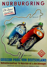 A3 Size - 1955 Nurburgring Grand Prix VINTAGE GIFT / WALL DECOR ART PRINT POSTER