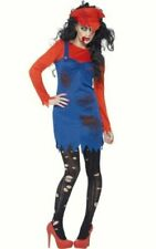Ladies Zombie Plumber Female Mario Brothers fancy dress costume Halloween outfit