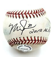 Mike Trout Hand Signed 2012 Al Roy Autographed Official Game Used Baseball COA