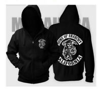 Sons of Anarchy Mens Zipper Hoodie Coat Jacket Cosplay Sweatshirts Hoodie Tops