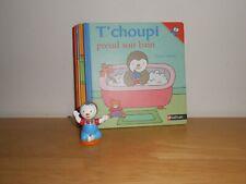 Lot de 5 Livres Tchoupi Nathan + Figurine