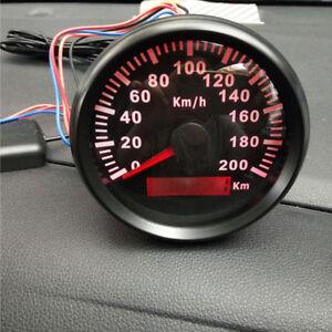 85mm 200KM/H Car Motor Stainless GPS Speedometer Waterproof Digital Gauge Superb