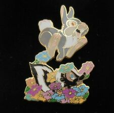 Disney Auctions ~ Thumper Jumps over Flower the Skunk from Bambi DA LE Pin HTF