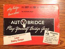 AUTOBRIDGE PLAY YOURSELF BRIDGE GAME No PGB 1959