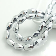 Wholesale Faceted Teardrop Glass Crystal Loose Spacer Beads 5X3mm8x12mm10x15mm