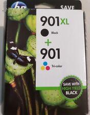 GENUINE HP 901XL BLACK  901 Tri-Color INK CARTRIDGES  EXP: 2019-2020