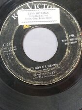 """ELVIS PRESLEY 45 RPM """"It's Now or Never"""" """"A Mess of Blues"""" G condition"""