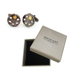 New Pair Of Russian Roulette Bullet Cufflinks & Gift Box by Onyx Art