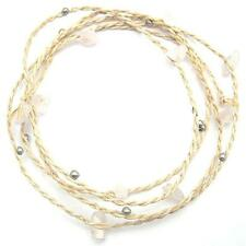 Bracelet Anklet Gemstone Strap Twine Natural Rose Quartz Soothing Friendship
