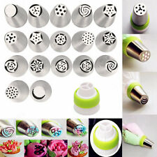 17Pcs Stainless Steel Russian Tulip Flower Icing Piping Nozzles Cake Decoration