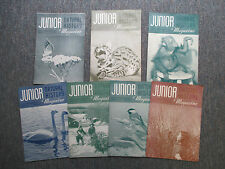 Lot of 7 JUNIOR NATURAL HISTORY Magazines 1951-52, Illustrated