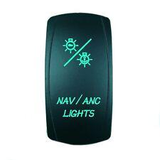 Laser GREEN Rocker Switch LED NAV/ANC 20A 12V On/off LED Light