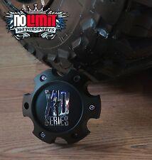 New XD Series Spy Addict Revolver Flat Black 6 Lug Wheel Center Cap 1079L145MB