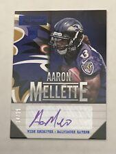 2013 Panini Playbook Aaron Mellette Rookie Auto /25 SP Ravens Rookie #102 Elon