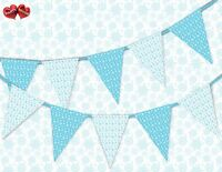 Winter pattern snowflakes mix Christmas Bunting Banner 15 flags by PARTY DECOR
