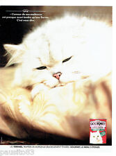 PUBLICITE ADVERTISING 066  1991  Gourmet  la terrine pour chat